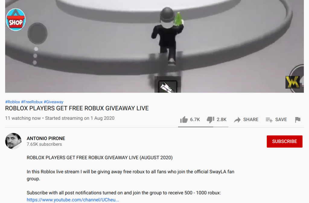 antonio pirone youtube live giveaway