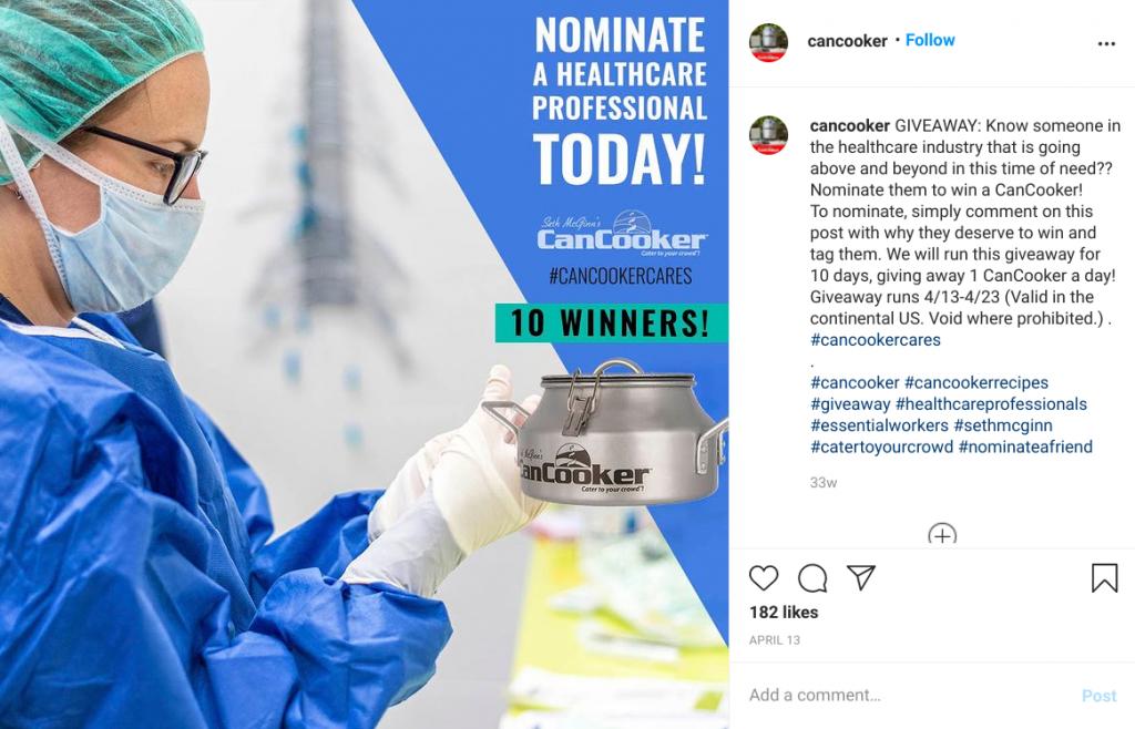 Cancooker instagram nominate friend giveaway