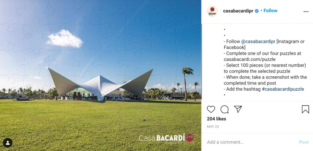 casa bacardi instagram puzzle contest