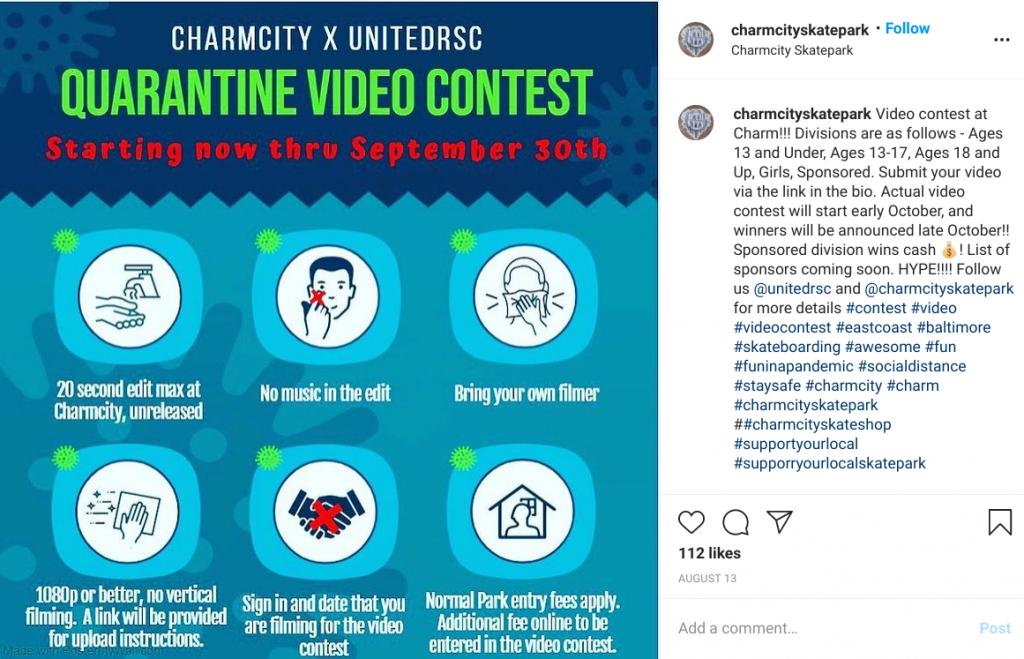 Charmcity Skatepark Instagram giveaway