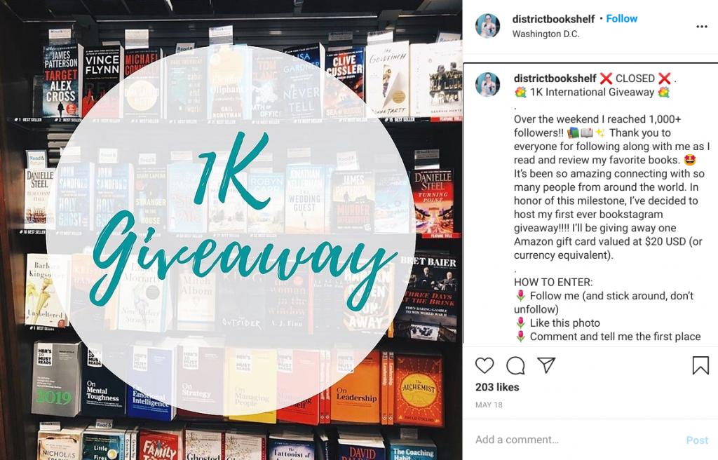 district bookshelf instagram follower giveaway