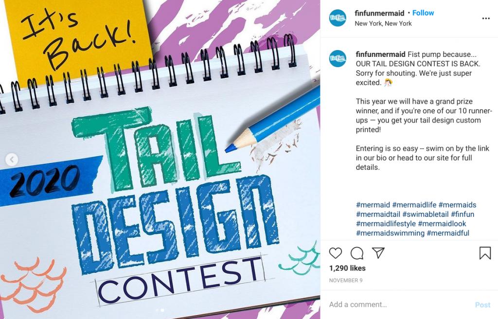 fin fun mermaid instagram design contest