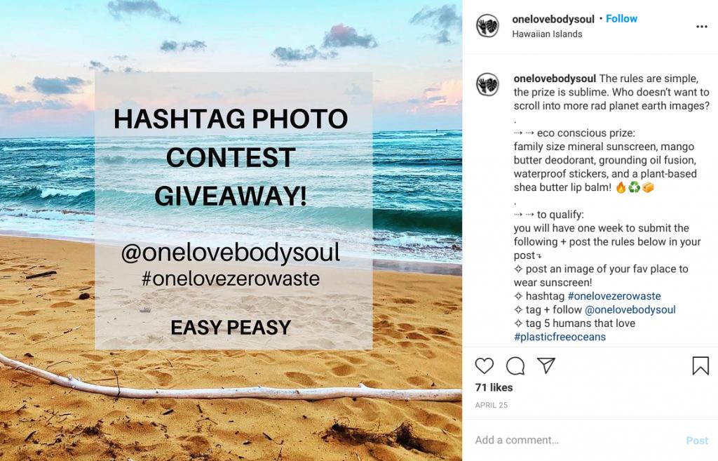 One love body soul Instagram giveaway