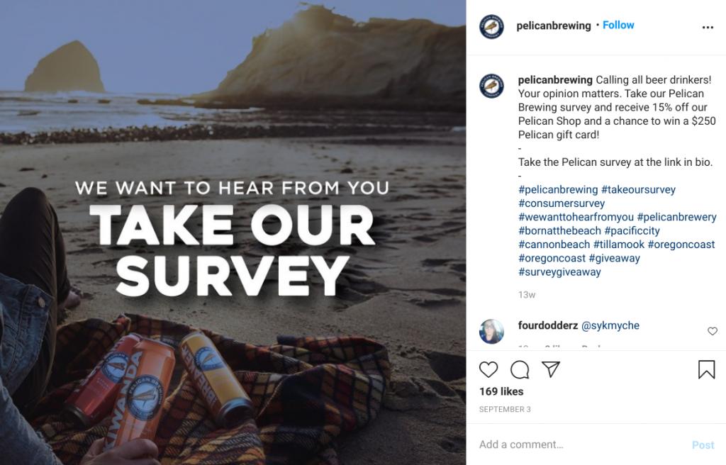 pelican brewing instagram giveaway