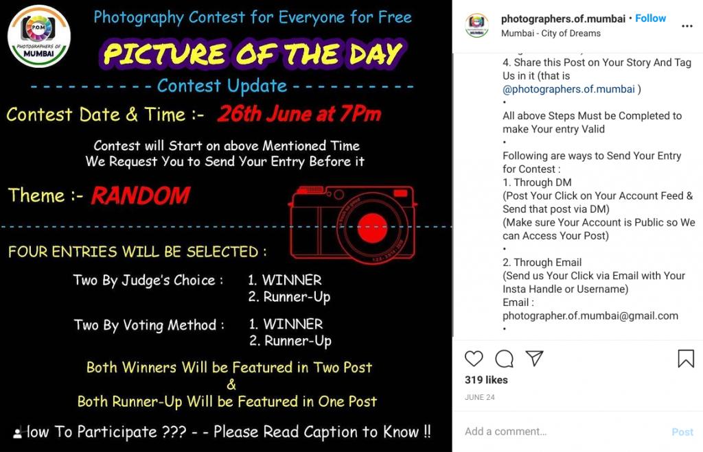 photographers of mumbai instagram contest