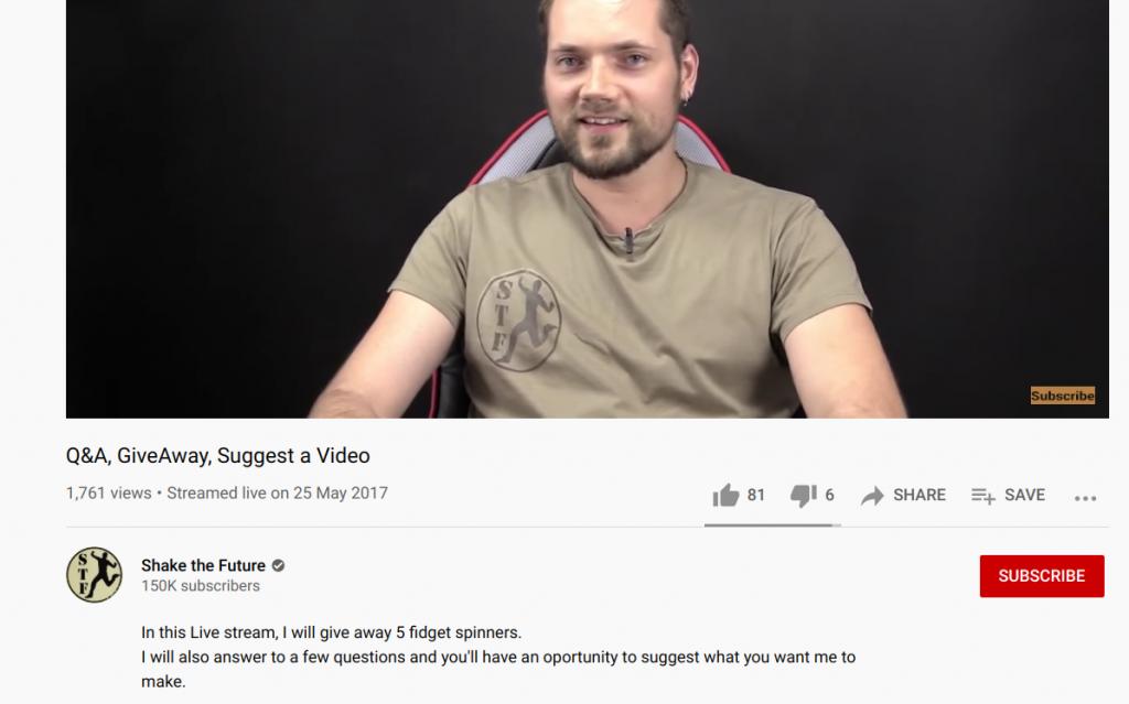 shake the future youtube giveaway
