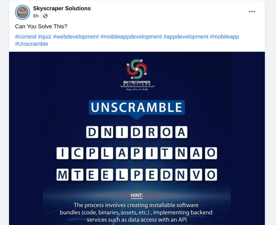 Skyscraper Solutions Facebook contest