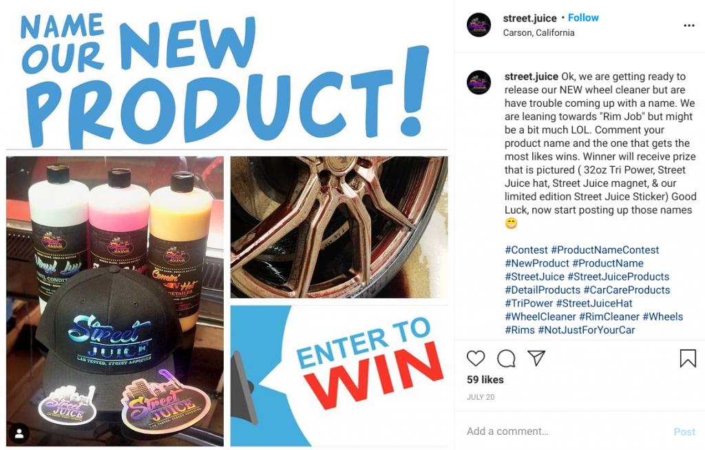 street juice name product instagram giveaway