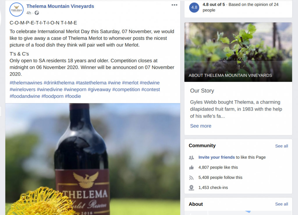 Thelema Facebook giveaway entry criteria