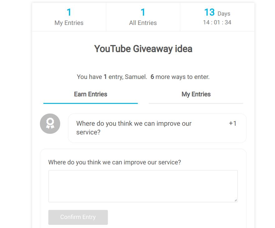 Youtube survey sweepwidget